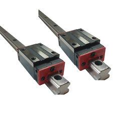 2x 15mm Linear Guiderail + 2pcs Bearing Block Slider 1500mm Length 1.5M HGR15 US