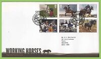 G.B. 2014 Working Horses set Royal Mail on First Day Cover, Horseheath