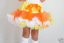 New Halloween tutu pettiskirt fall skirt Thanksgiving candy corn  2-5 yrs