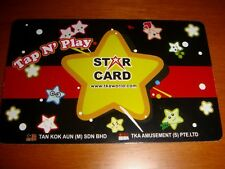 New VIRTUALAND Gaming Token Star Card, plastic unused