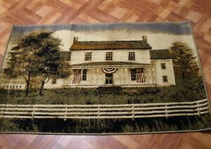 Farmhouse Area Jute Rug ~ Americana Country Home