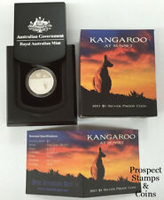 2011 Kangaroo at Sunset One Dollar Silver Proof Australian Coin