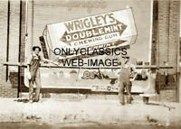 1913 WRIGLEY'S DOUBLEMINT CHEWING GUM ADVERTISING PAINTERS PHOTO AMERICANA ART