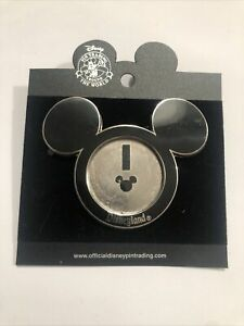 2004 Disneyland Mickey Ears Photo Picture Frame Pin 112429