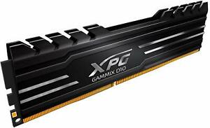 ADATA XPG GAMMIX D10 8GB BLACK DDR4 3000MHz PC4-24000 CL16 DESKTOP Memory RAM