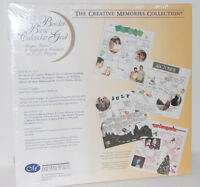Creative Memories 12x12 Pages ~ WHITE CALENDAR GRID Border Basics ~ NEW