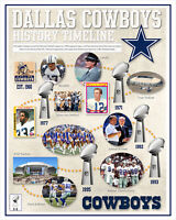 Dallas Cowboys History Timeline - poster print