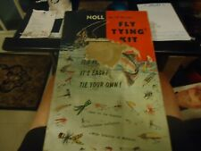Noll Fly Tying Kit No. 151 De Luxe with Bags Of Feathers Very Nice 1950's
