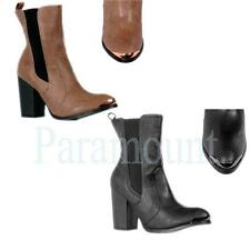 Elasticated High (3-4.5 in.) Ankle Boots for Women