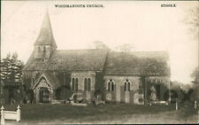 WOODMANCOTE St. Peter's Church Postcard nr Chichester SUSSEX Mezzotint