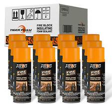 Tiger Foam 12oz Fire Block Expanding Spray Foam Sealant - Case of 12 TFFB12A