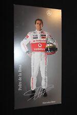 Card Vodafone McLaren Mercedes F1 Team 2008 #41 Pedro de la Rosa (ESP) PS