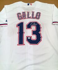 Joey Gallo Texas Rangers Autographed Signed Jersey XL COA