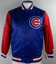 Chicago Cubs MLB Men's Blue & Red Starter Snap Up Varsity Jacket