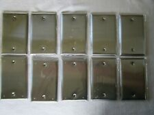 Lot of 10 Stainless Steel Outlet Cover Blank Wall Plate 1-Gang Switch Plate New
