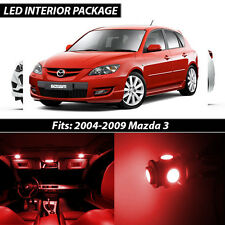 2004-2009 Mazda 3 Red Interior LED Lights Package Kit MazdaSpeed 3