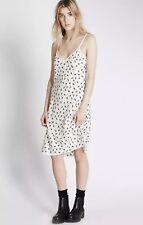 M&S Alexa Chung Olive Print Slip Dress Size 10 BNWT