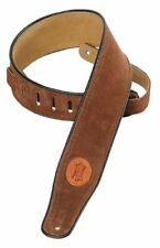 Levy's Soft Suede Guitar Strap Brown. is