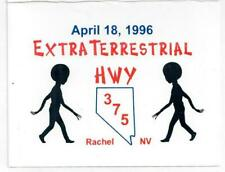 1996 Extraterrestrial Highway Event Card Little A Le Inn Area 51 NV Alien Storm