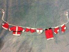 KNITTING PATTERN - Cute Father Christmas / Santa washing line decoration