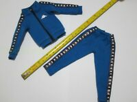 "1/6 Scale Blue Sportswear Track Suit for 12"" Action Figure Toys"