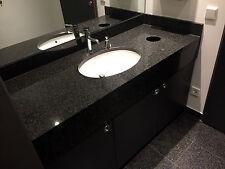 Bad Naturstein Arbeitsplatte Waschtisch Waschtischplatte schwarz Granitplatte