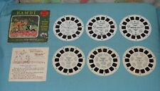 vintage Disney's BAMBI VIEW-MASTER REELS LOT x2 different sets