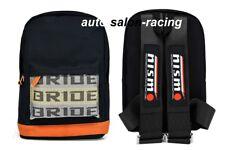 JDM Bride Racing Backpack With NISMO Racing Harness Shoulder NISMO Black straps