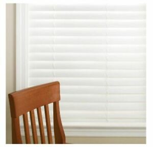 🎇NEW SIZES ADDED🎇HDC White Cordless 2 inch Faux Wood Blind (PLEASE READ)