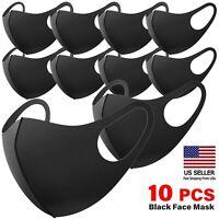 10 PCs Washable Black Fashion MASKS Reusable & Breathable US seller  IN-STOCK