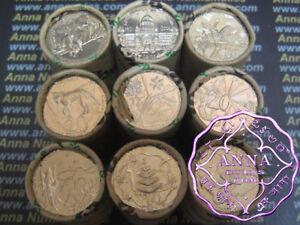 Australian 2001 Federation State 20C X 9 Coins Set ,EX Mint Roll UNC