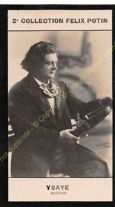 Chromo trade card Photo Eugène Auguste Ysaÿe Musicien violoniste circa 1907