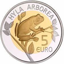 Luxemburg 5 Euro Münze 2017 PP Flora und Fauna Laubfrosch im Folder