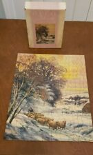 "Vintage TUCO Deluxe Picture Puzzle - ""End Of A Winters Day"""