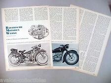 Bayerische Motoren Werke Motorcycle MAGAZINE ARTICLE - 1965