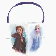 Easter Basket Disney Frozen 2 Paperboard Bucket  With Felt Handle Anna Elsa NEW
