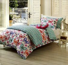 FRIEDA BUTTERFLY DOUBLE QUILT COVER SET NEW