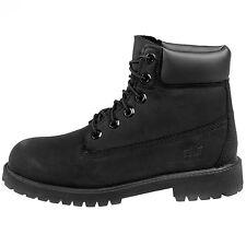 "Timberland 6"" Premium Big Kids 12907 Black Nubuck Waterproof Boots Size 5.5"