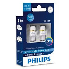 Philips X-treme Ultinon W5W 501 T10 4000K interieur LED Lampes de voiture (x2)