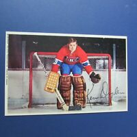 KEN DRYDEN  1971-72  Montreal Canadiens postcard PRO STAR AUTO SIGNED To Claude