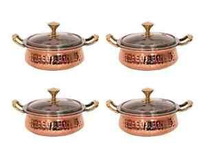 Copper Steeliness Steel Casserole Dish with Glass Lid Serveware kitchen Utensils