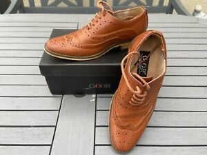 Goor Boys brown /Tan Wedding /Party shoes, size 13