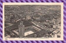 CPA MAROC - MARRAKECH en avion - La grande mosquée