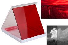 FILTRE PHOTO ROUGE 84x96mm N&B PORTRAIT/CIEL RED/R2 B/W SKY/SKIN FILTER COKIN P