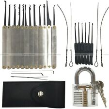 lockpicking lock pick set tools practice padlocks unlocking crochetage serrure '