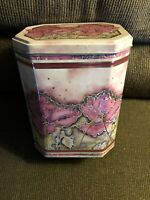 Vintage Designed Container Floral Empty Tin That Was Made in England
