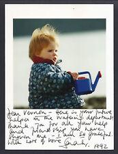 Sarah Duchess of York Signed Card & Original Photo 1992 Royal Gardener