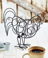 Country Primitive Kitchen Rooster Keurig K Cup Coffee Pod Storage Holder Rack