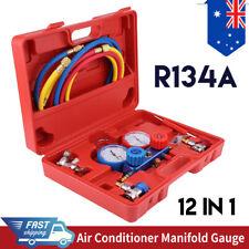 """R134a Manifold Gauge Set AC A/C 5FT with Color Hose Air Conditioner HVAC 60"""" AU"""
