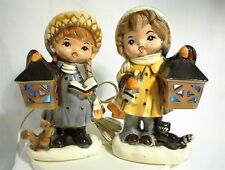 VINTAGE LAMP MR. CERAMICS IOLA WISCONSIN BOY GIRL TV TABLE BEDROOM HOME LIGHT